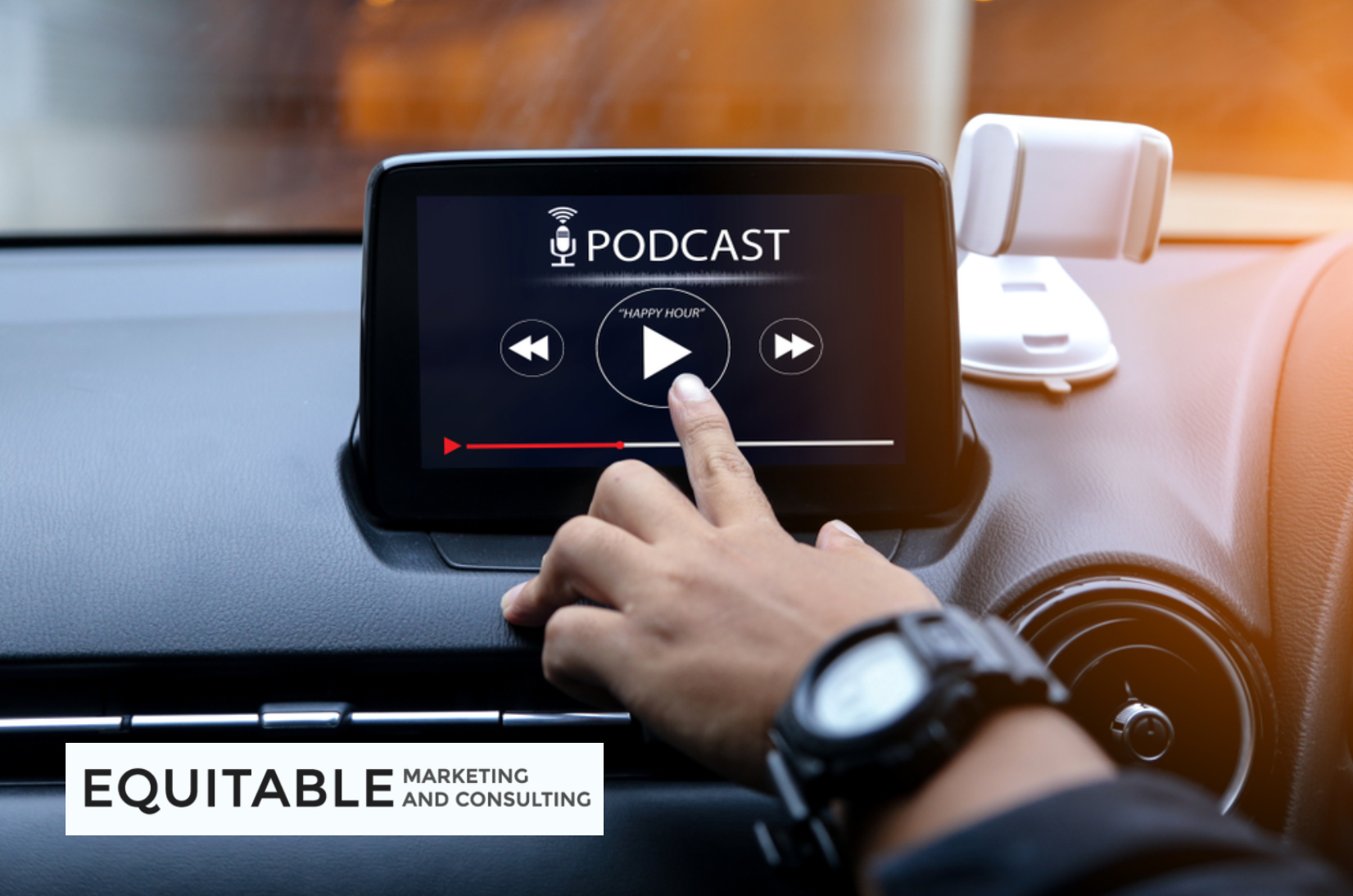 Top digital marketing podcasts shared by Equitable Marketing.